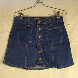 Altar'd State Denim Mini Skirt